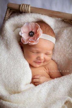 Pale Pink flower headband baby headbands by FlourishingCreations, $9.95