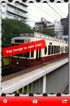Phonto ($0.00) is a simple application that allows you to add text on image.