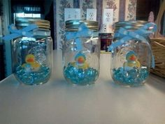 Rubber Duck Mason Jar Decor | Click Pic for 30 DIY Baby Shower Ideas for Boys | DIY Baby Shower Decorations for Boys #babyshowergifts