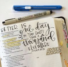 Bible journaling: what i've learned and what i use. Bible Notes, My Bible, Bible Art, Bible Scriptures, Bible Study Journal, Scripture Study, Scripture Journal, Art Journaling, Fantasy Warrior