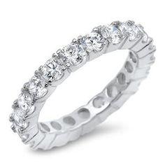 A Perfect 11TCW Solitaire Cut Russian Lab Diamond Wedding Bands Eterni – Joy of London