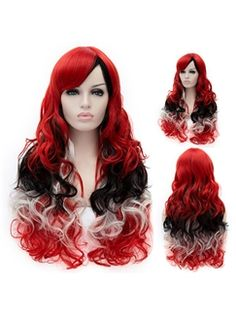 Trendy Ombre Side Bang Long Wavy Charming Heat Resistant Synthetic ... 9e864ce573