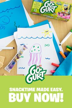 Fill your fridge with Go-GURT this back to school season. Click for details! Bug Crafts, Diy And Crafts, Crafts For Kids, Arts And Crafts, Cheer Snacks, Reward Ideas, Surf Hair, Tmnt Girls, Ceiling Curtains