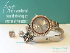 Does anyone have the time? I do!! Origami Owl + watch =amazing!! Change your look when you change the face!! more for your $$$$ cathygough.origamiowl.com