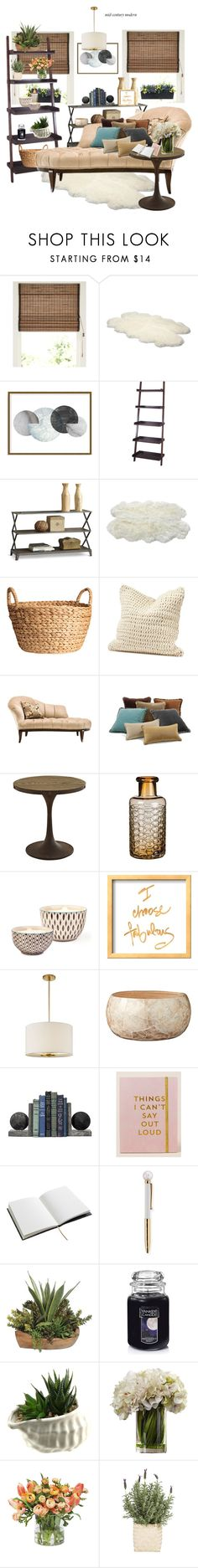 """""""Mid century modern"""" by wendyfer on Polyvore featuring interior, interiors, interior design, home, home decor, interior decorating, UGG, Art Addiction, Avignon and Luxe Collection"""