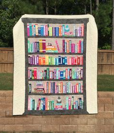 My Selvage Bookshelf Quilt... Pattern on Craftsy.com