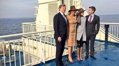 Spontaan ingelast fotomoment op de veerboot van Samsø naar vaste land