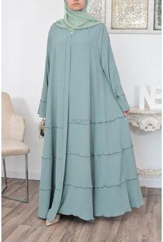 Abaya Style, Hijab Style, Abaya Fashion, Muslim Fashion, Fashion Dresses, Abaya Dubai, Abaya Designs, Hijab Gown, Mode Abaya