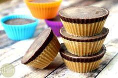 Clean Eating Healthy Peanut Butter Cups are made with only 4 healthy, clean ingredients and they're vegan, gluten-free, dairy-free and contain no refined sugar.
