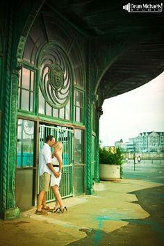 Amanda & Eric's Asbury Park #beach #engagement shoot! (photo by deanmichaelstudio.com) #photography #wedding #njwedding #DTS