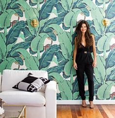 Palm beach decor, amazing palms wallpaper Design Crush | Natalie Merrillyn