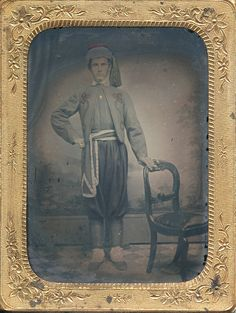 Identified as Frank Kochendoerfer of the famed 165th New York Infantry, 2nd Duryea's Zouaves. Frank would enlist in Co. C of the 165th in mid September of 1862.