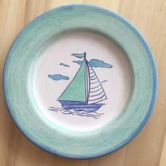 #çini #çinitabak #ceramic #handpainted #deniz #yelkenli #sea #sailboat