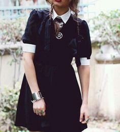 Gothic Wednesday Addams dress