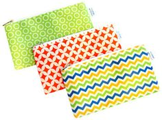 Cloth Snack Bags - Set of 3 - Yummi Pouch (Spunky) Dry Snacks, Discovery Kit, Snack Bags, Kids Furniture, Safe Food, Bag Storage, Memory Foam, Chevron, Etsy