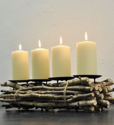 Adventskranz Holz Woody | Greenbop Online Shop
