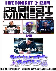 Da Beatminerz on BattleZoneRadio Tonight at 12