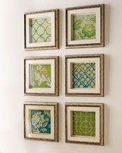 craft paper in small frames?? this may require a trip back to joannes, I saw 50% off frames and 3 for 99 craft paper