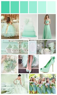 Mint Green Wedding .