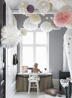 34 Unique Scandinavian Kids Bedroom Design To Make Your Daughter Happy. Our children spend most of their time in their own room, either playing games or studying, watching cartoons, etc. Girls Bedroom, Bedroom Decor, Bedroom Ideas, Bedrooms, Master Bedroom, Budget Bedroom, Bedroom Furniture, Ideas Habitaciones, Scandinavian Kids