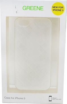 Greene + Gray Womens Diamond Cut for Iphone 5 Cell Phone Case Clear new in box #GreeneGray