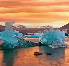 Glacier Lagoon, Iceland ... looks like heaven. Cold yes, but still ... heaven.