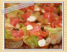********^*^*^Smoked Salmon in Wonton Crispy cups – Simple Recipes