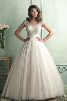Gorgeous ballgown!! Modest wedding dress.