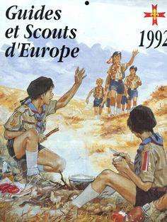 Calendrier Guides et Scouts d'Europe 1992