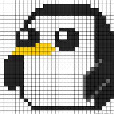 Penguin perler bead pattern