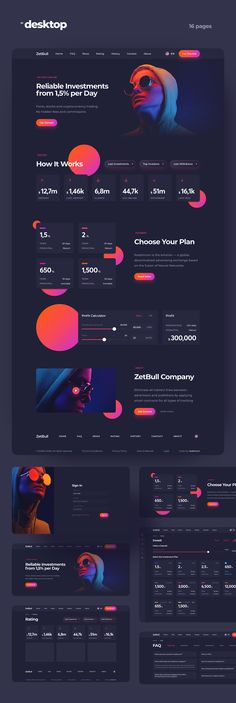 Investments Landing Page on Behance Landing Page Inspiration, Website Design Inspiration, Creative Web Design, Web Ui Design, Best Landing Page Design, Site Vitrine, Website Design Layout, Website Designs, User Experience Design