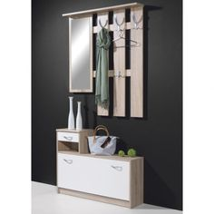 Hallway Stand-Shoe Storage In Canadian Oak-White, 3663-157