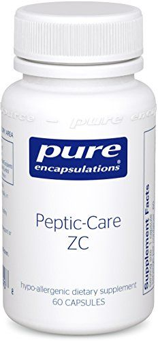Pure Encapsulations - Peptic-Care ZC - Hypoallergenic Supplement Provides Antioxidant Support for Overall Gastric Health and Comfort* - 60 Capsules