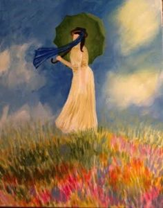 Monet's Woman with Umbrella - Pinot's Palette The Woodlands