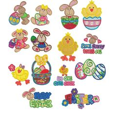 Bunny Chick Applique Machine Embroidery Designs | Designs by JuJu