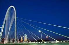 Margaret Hunt Hill Bridge in Downtown Dallas, by Santiago Calatrava's