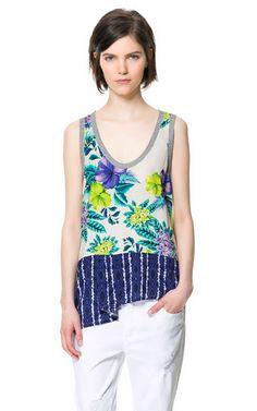 Imagem 1 de TOP PATCHWORK FLOR da Zara