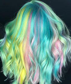 "192 Me gusta, 13 comentarios - St. Augustine Colorist (@hairby_candace) en Instagram: ""Friyay!!!! ⚡️ ⚡️ ⚡️ #pulpriotisthepaint #rainbow #dreamingoftheRiotSquad #startariot #pulpriothair…"""