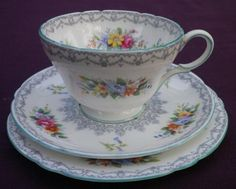 SHELLEY ~ Crochet Queen Anne, Cup And Saucer, Tea Pots, Porcelain, English, Coffee, Teacups, Crochet, Tableware