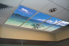 I want this in my home | Ceiling Tile Art | Ceiling Design Idea