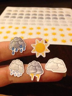 94 weather stickers perfect for tracking weather in your Erin Condren, Plum Paper, or planner of choice. Each set contains 36 suns, 20 clouds,