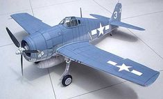 Grumman F6F-3 Hellcat Fighter 1:32 Scale Free Aircraft Paper Model Download