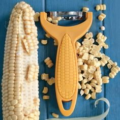Corn Zipper: Quickly and safely strips kernels from ears of corn