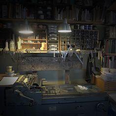 greenboathouse press- inside the studio #letterpress