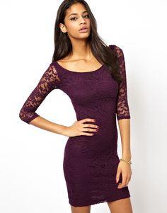 Bardot lace mini dress asos promo