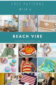 Crochet Finds - Get Your Beach Vibe Going! Beach Crochet, Free Crochet, Knit Crochet, Crochet Summer, Crochet Shirt, Red Heart Yarn, Crochet Projects, Crochet Ideas, Soft Blankets