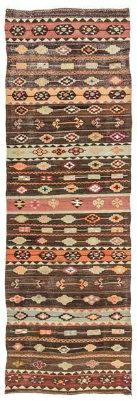 Vintage Turkish Kilim runner wool