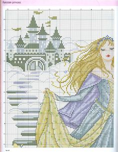 Princess Cinderella  (Joan Elliott) From Cross Stitch Gold N°90 2012 3 of 6