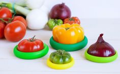 https://www.thegrommet.com/food-huggers These foods savers, discovered by The Grommet, are reusable wraps that preserve leftover fruits and vegetables.