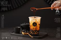 舍 研 舍 estilo chino de té de leche con burbujas Bubble Tea Menu, Bubble Tea Shop, Bubble Milk Tea, Food Cart Design, Boba Drink, Vietnamese Dessert, Tea Design, Drink Photo, Coffee Photos